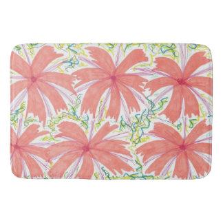 Sunburst Tropical Flower Pattern Bath Mat Bath Mats