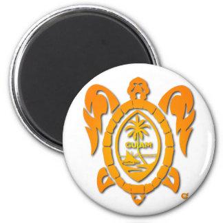 sunburst turtle 6 cm round magnet