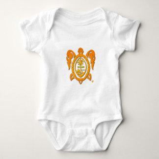 sunburst turtle baby bodysuit