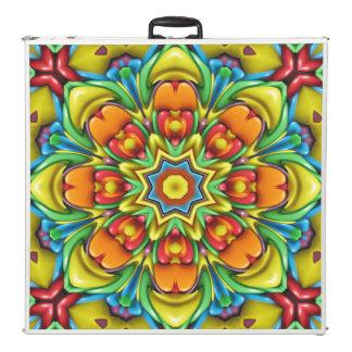 "Sunburst   Vintage Kaleidoscope 96""  Pong Table"