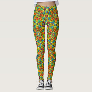 Sunburst Vintage Kaleidoscope  Leggings