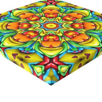 Sunburst Vintage Kaleidoscope Wrapped Canvas