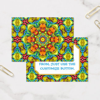 Sunburst Vintage Pattern  Business Cards