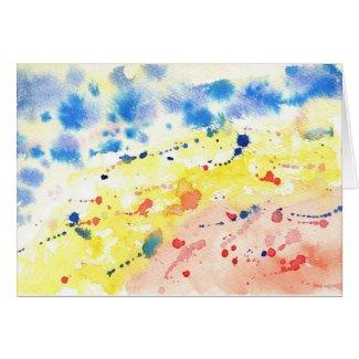 Sunburst Watercolour Greeting Card