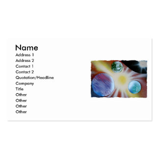 Sunburst with planets spray paint spraypainting pack of standard business cards