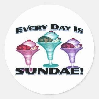Sundae Everyday Round Sticker