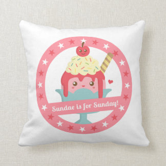 Sundae is for Sunday! Cute Cartoon Sundae Cushion