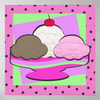 Sundae Shoppe/ Pink Poster