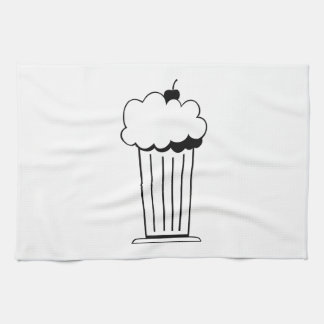 Sundae with Cherry Kitchen Towels
