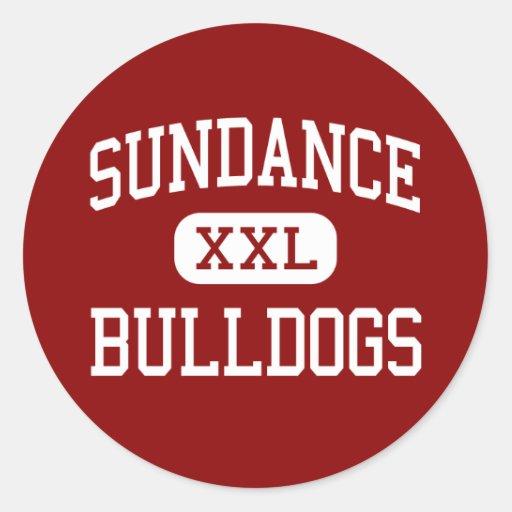 Sundance - Bulldogs - High - Sundance Wyoming Round Stickers