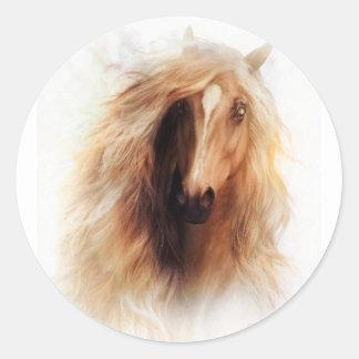 Sundance Mustang Portrait Round Sticker
