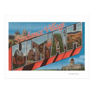 Sundance Village, Utah - Large Letter Scenes Postcard
