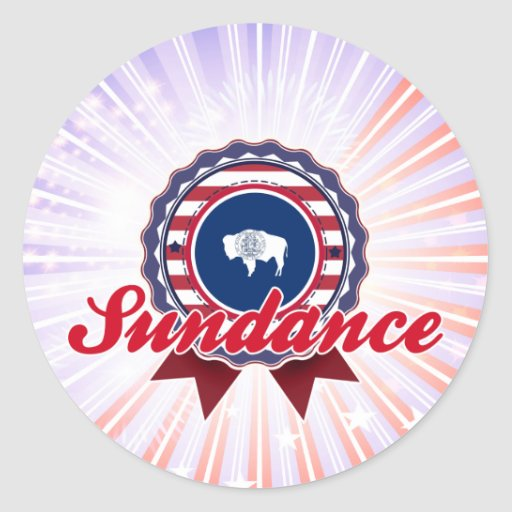 Sundance, WY Round Sticker