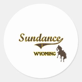 Sundance Wyoming City Classic Round Sticker