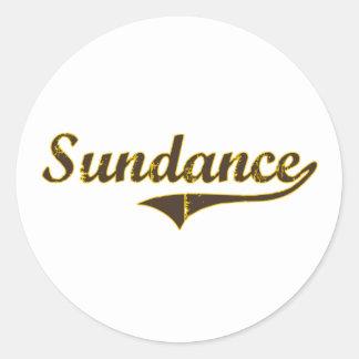 Sundance Wyoming Classic Design Round Stickers