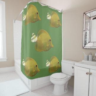Sundance Yellow Fish Shower Curtain