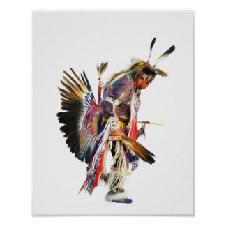 Sundancer - 11x14 Native American Art Poster