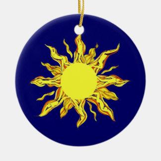 Sundancers Double-Sided Ceramic Round Christmas Ornament