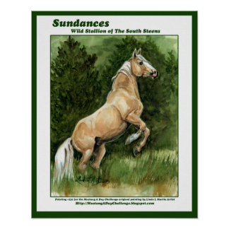 Sundances Wild Stallion of the South Steens Poster