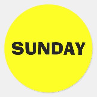 Sunday Ad Lib Yellow Sticker by Janz