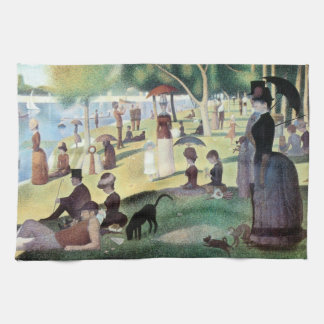 Sunday Afternoon, Island La Grande Jatte by Seurat Tea Towel