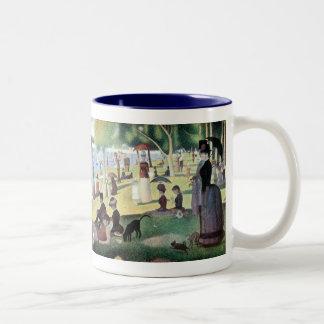 Sunday Afternoon, Island La Grande Jatte by Seurat Two-Tone Coffee Mug