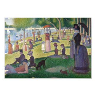 Sunday Afternoon on the Island of La Grande Jatte 9 Cm X 13 Cm Invitation Card