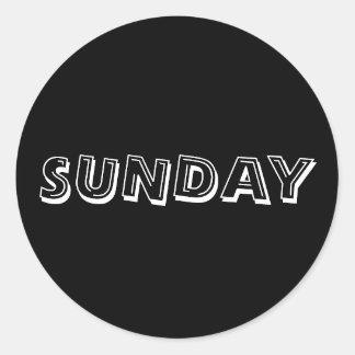 Sunday Alphabet Soup Black Sticker by Janz