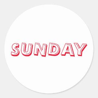 Sunday Alphabet Soup Red White Sticker by Janz
