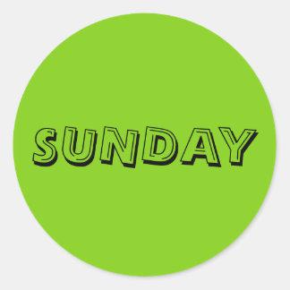 Sunday Alphabet Soup Yellow Green Sticker by Janz