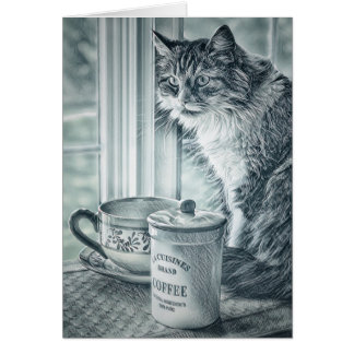 Sunday Coffee Blank Note Card