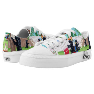 Sunday Fun Labradors Painting Shoes Printed Shoes
