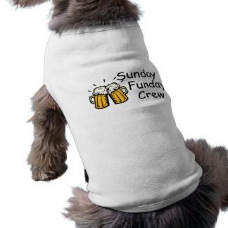 Sunday Funday Crew Beer Sleeveless Dog Shirt