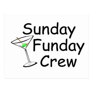 Sunday Funday Crew Martini Postcard