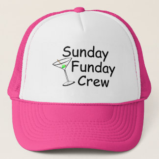 Sunday Funday Crew Martini Trucker Hat