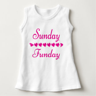 Sunday Funday Cute Funny Pink Heart Dress
