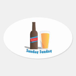 Sunday Funday Oval Sticker