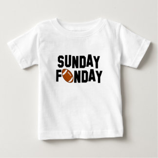 Sunday Funday with football Baby T-Shirt