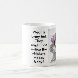Sunday-go-to-meeting hat coffee mug