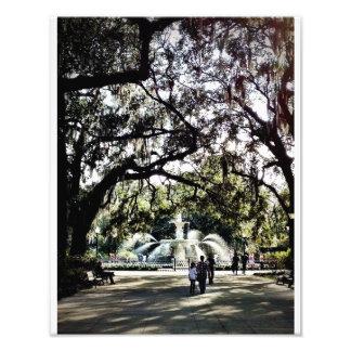 Sunday in Forsyth Park, Savannah Photographic Print