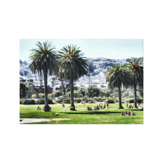 Sunday In The Park Stretched Canvas Print