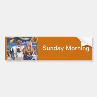 Sunday Morning Car Bumper Sticker