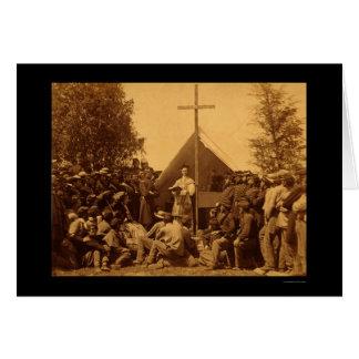 Sunday Morning Catholic Mass 1861 Greeting Cards