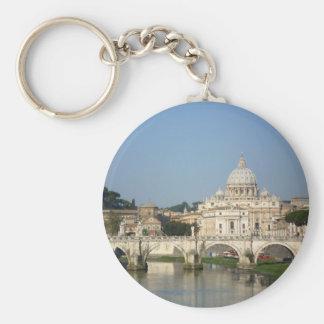 Sunday Morning in Rome Key Ring