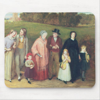Sunday Morning - The Walk from Church, 1846 Mouse Pad