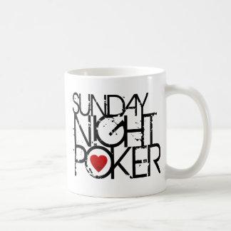 Sunday Night Poker Basic White Mug