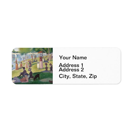 Sunday on La Grande Jatte Return Address Label