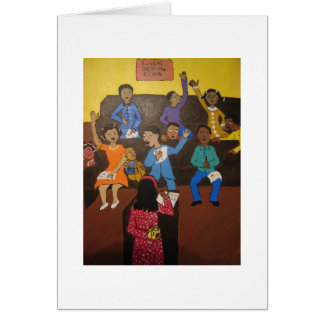 Sunday school greeting card African-American