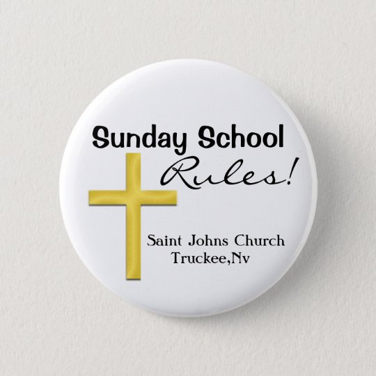 Sunday School-Holy Cross 6 Cm Round Badge
