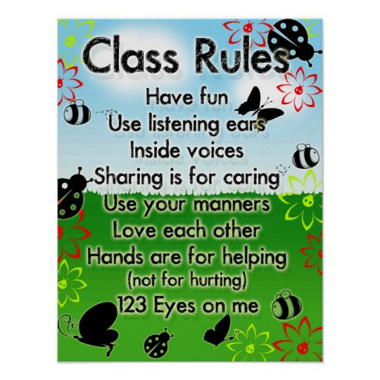 Sunday School Rules Poster